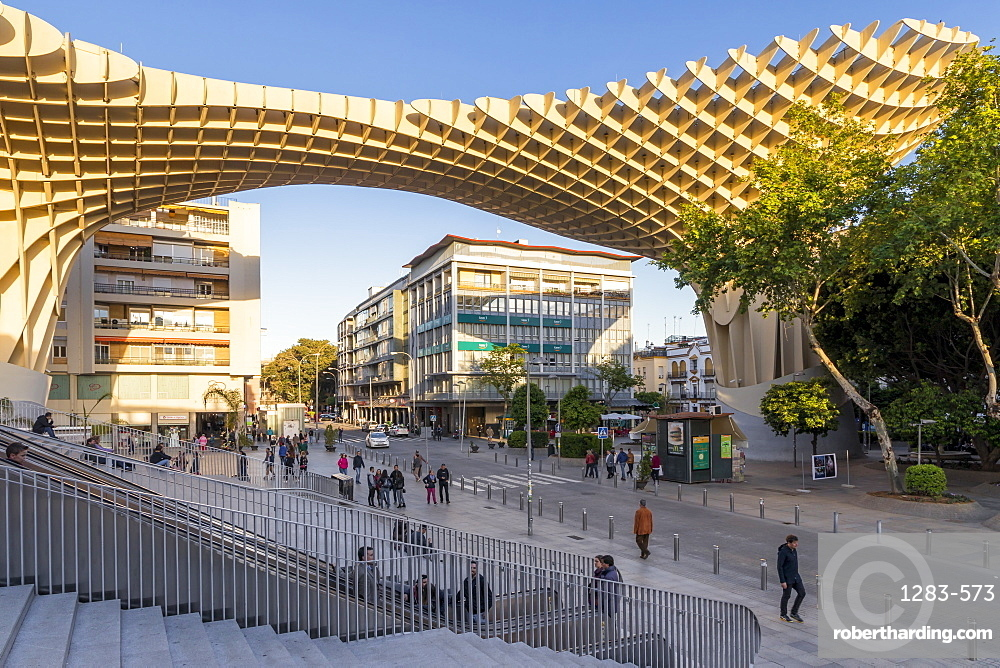 Metropol Parasol building, Seville, Andalusia, Spain, Europe