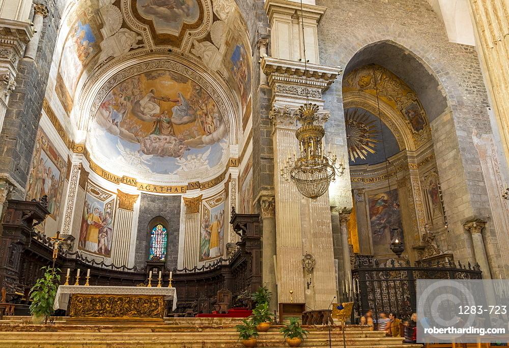 Interior of Catania Cathedral, Catania, Sicily, Italy, Europe