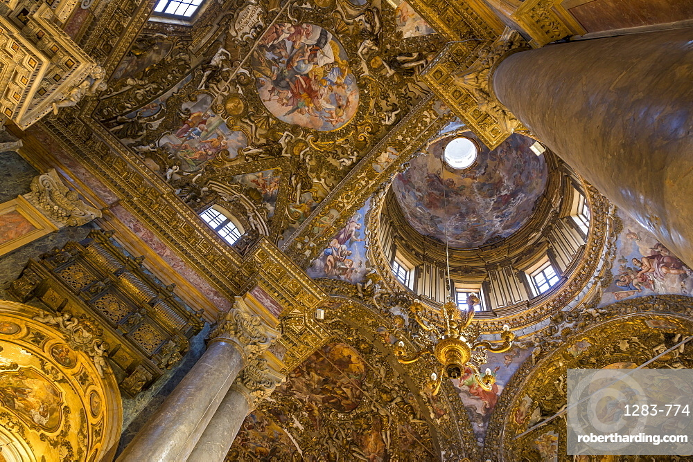 Interior of the San Giuseppe dei Padri Teatini Church, Palermo, Sicily, Italy, Europe