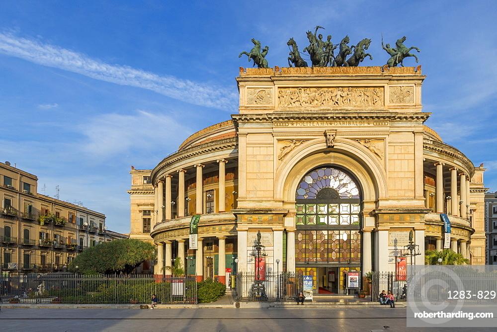 The Politeama Theatre, Palermo, Sicily, Italy, Europe