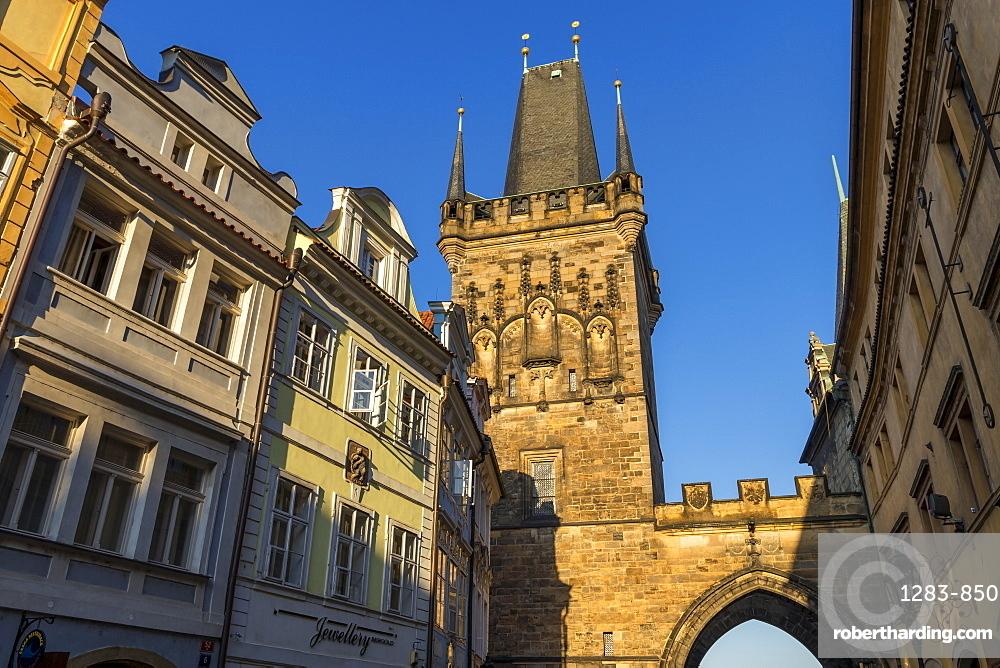 The Lesser Town (Mala Strana) Bridge Tower, UNESCO World Heritage Site, Prague, Bohemia, Czech Republic, Europe