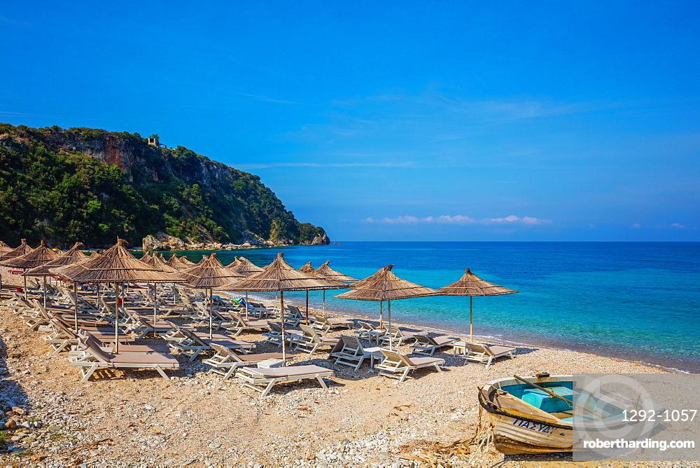 Potami Beach, Himara, South coast, Albania, Europe
