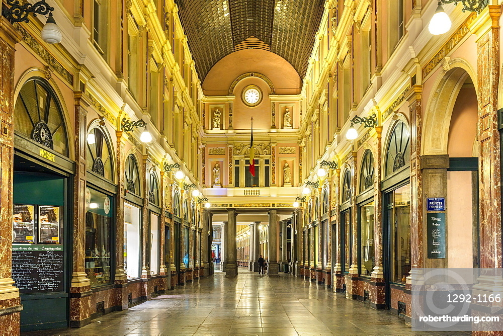 Les Galeries Royales Saint-Hubert, Brussels, Belgium, Europe