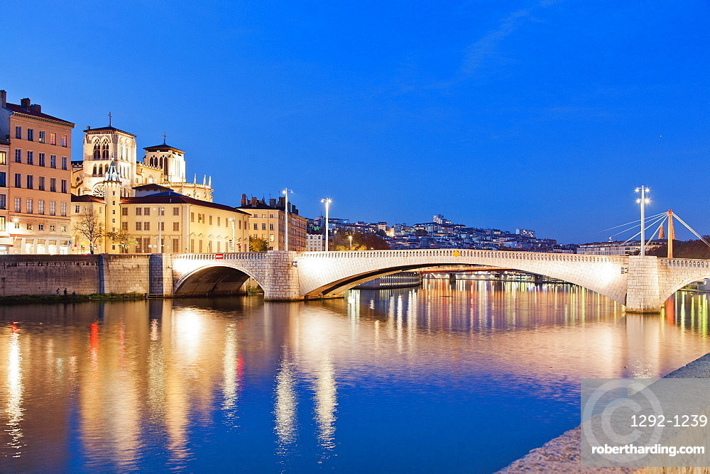 Pont Bonaparte, Lyon, Auvergne-Rhone-Alpes, France, Europe