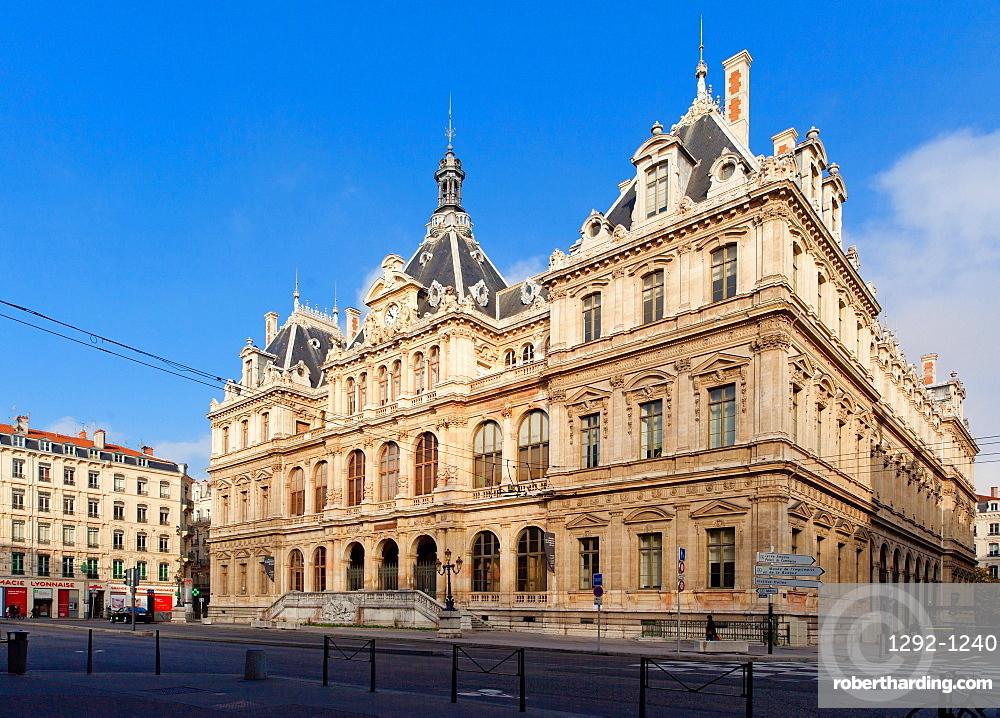 Palace of the Stock Exchange (Palais de la Bourse), Lyon, Auvergne-Rhone-Alpes, France, Europe
