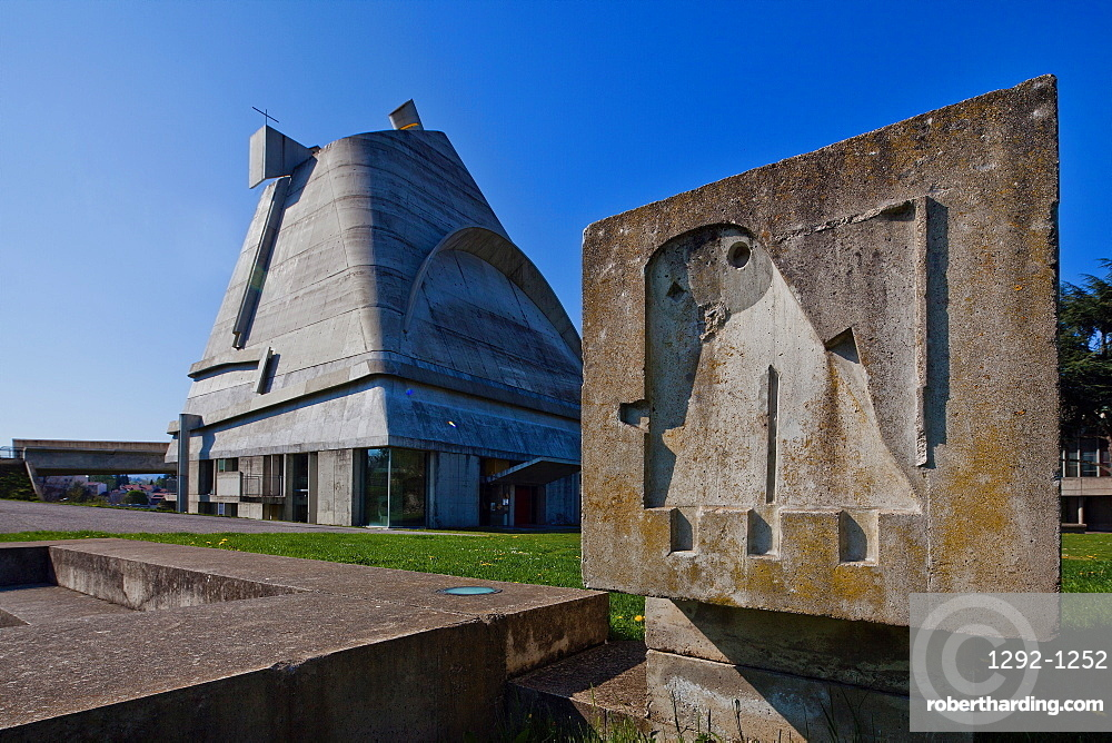Eglise Saint-Pierre, Site Le Corbusier, Firminy, Loire Department, Auvergne-Rhone-Alpes, France, Europe