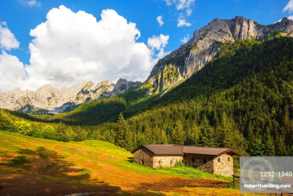 On the way to the Passo dei Campelli, Val di Scalve, Lombardy, Italy, Europe