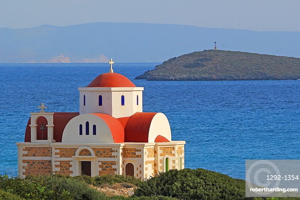 Pachia Ammos Beach Crete Island Stock Photo