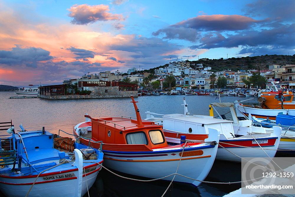 Elounda Crete Island Greek Islands Stock Photo