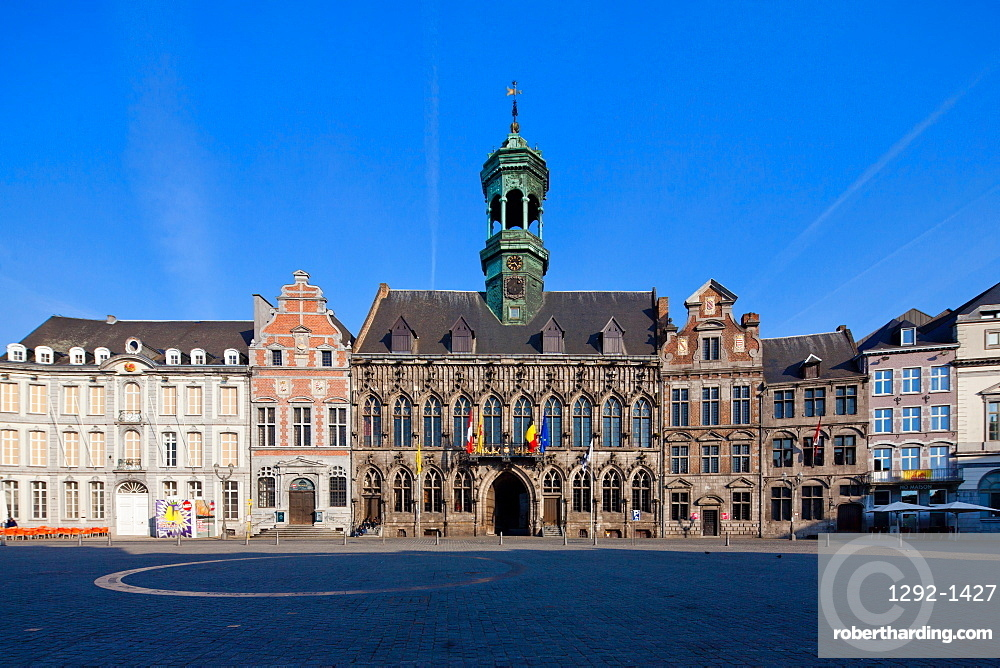 City Hall, Grand Place, Mons, Wallonia, Belgium, Europe
