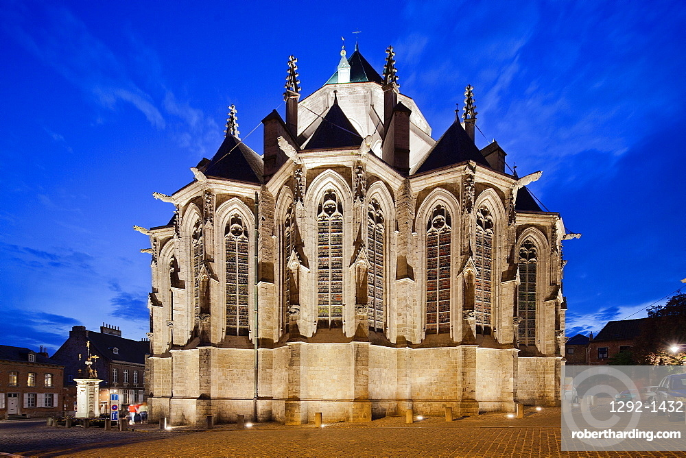 Collegiate Church of St. Waudru, Mons, Wallonia, Belgium, Europe