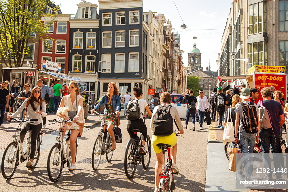 Dam Street, Amsterdam, North Holland, The Netherlands, Europe