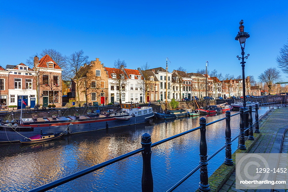 The canal along Handelskade street, Den Bosch, The Netherlands, Europe