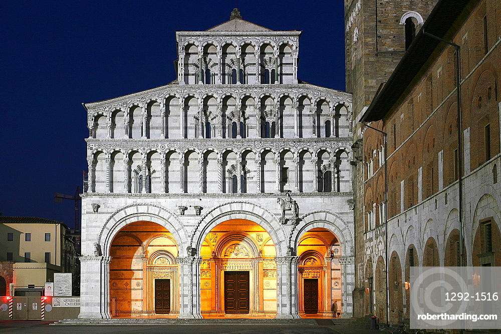 The Cathedral of San Martino, Lucca, Tuscany, Italy, Europe