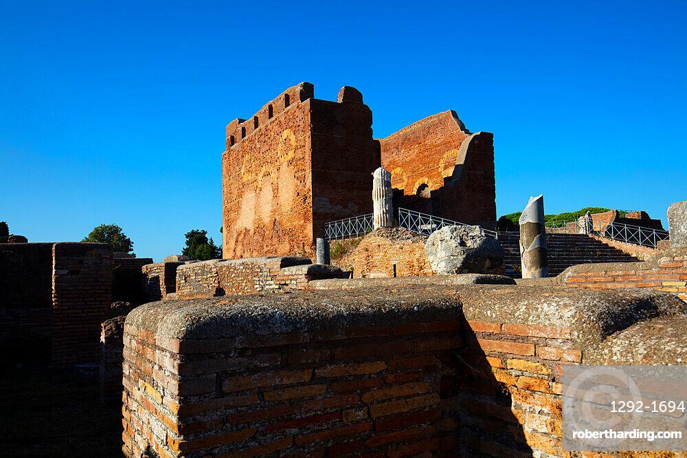 Capitolium, Ostia Antica, Rome, Lazio, Italy, Europe