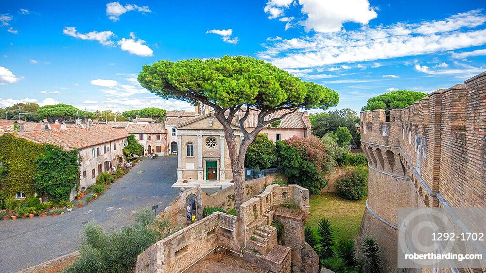 Ancient Ostia village, Rome, Lazio, Italy, Europe