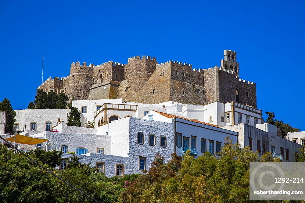 The Monastery of Saint John the Theologian, UNESCO World Heritage Site, Patmos, Dodecanese, Greek Islands, Greece, Europe