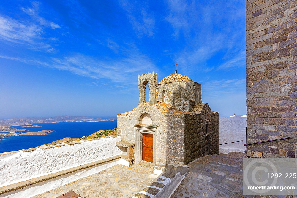 The Monastery of Saint John the Theologian, Church of the Holy Apostles, Patmos, Dodecanese, Greek Islands, Greece, Europe