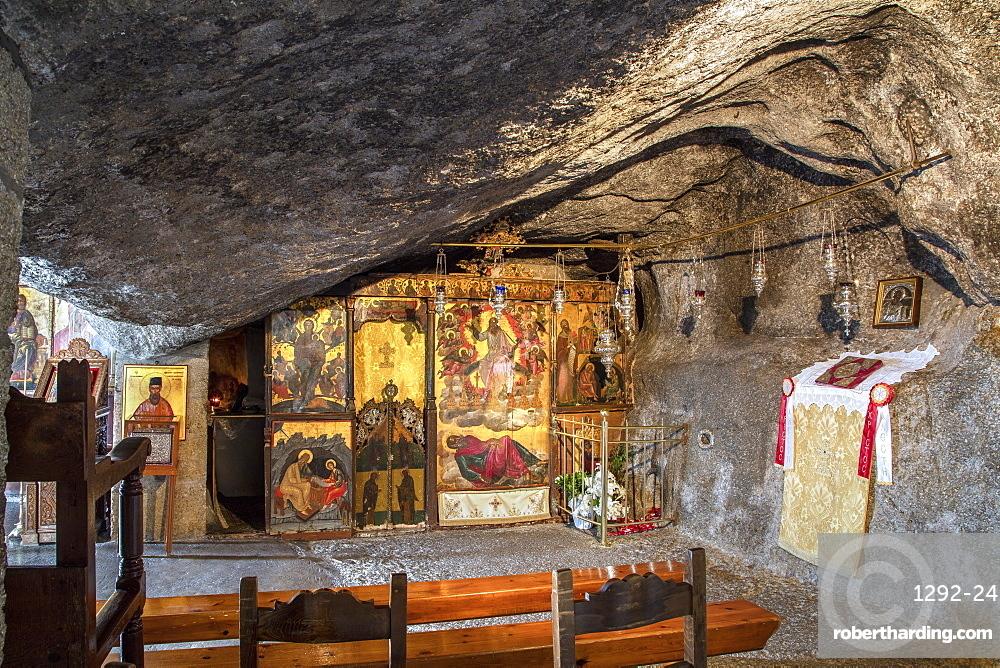 St. John Cave, Patmos, Dodecanese, Greek Islands, Greece, Europe