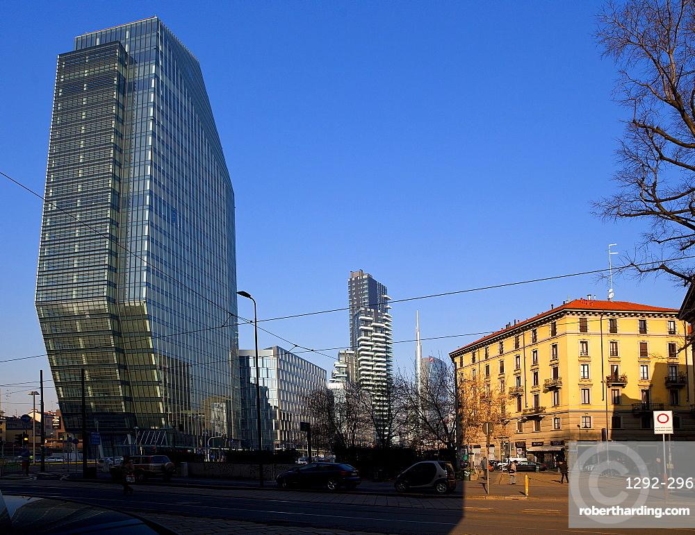 Diamond tower, Porta Nuova district, Milan, Lombardy, Italy, Europe