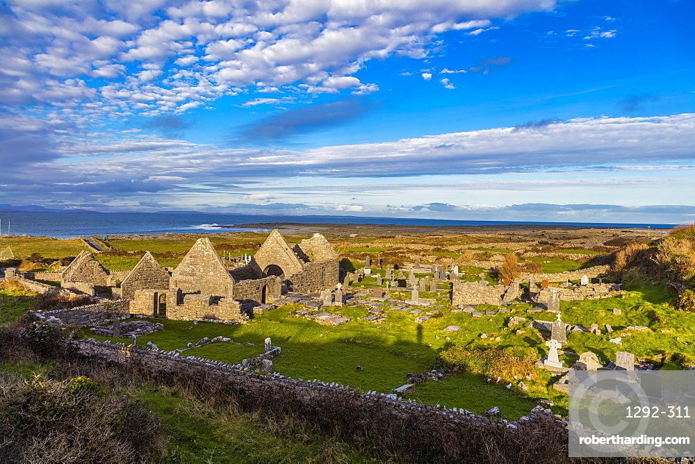 Seven Churches, Inish More, Aran Islands, Republic of Ireland, Europe