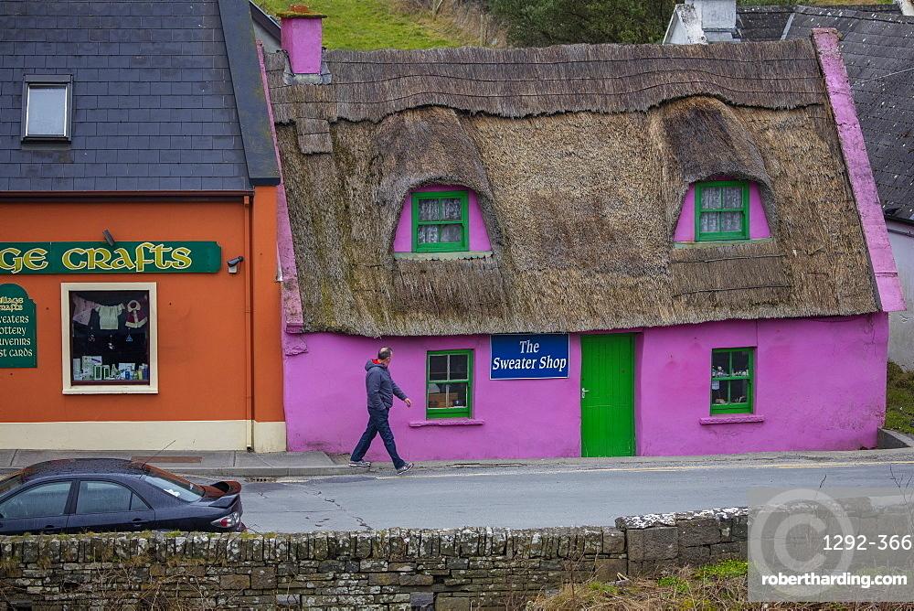The Sweater Shop, Doolin, Cliffs Coastal Walk, County  Clare, Munster, Republic of Ireland, Europe