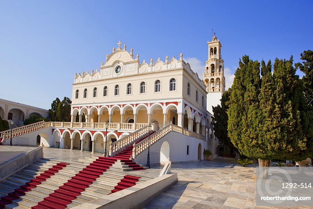 The church of Panagia Evangelistria, Tinos Island, Cyclades, Greek Islands, Greece, Europe