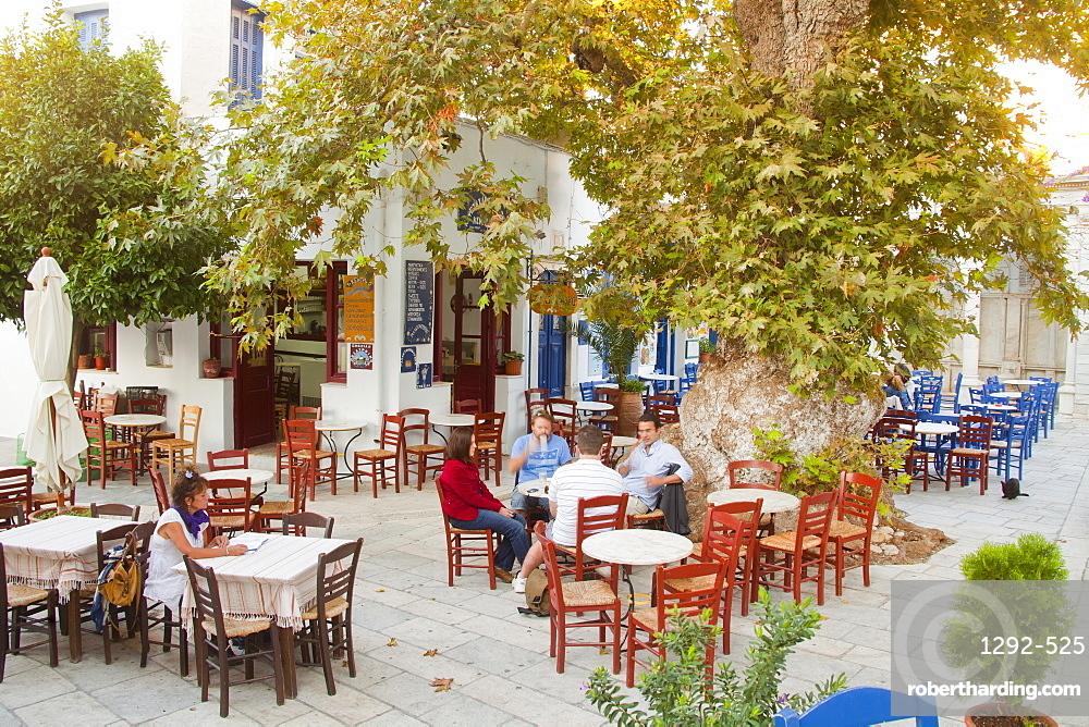 The village of Pyrgos, Tinos Island, Cyclades, Greek Islands, Greece, Europe