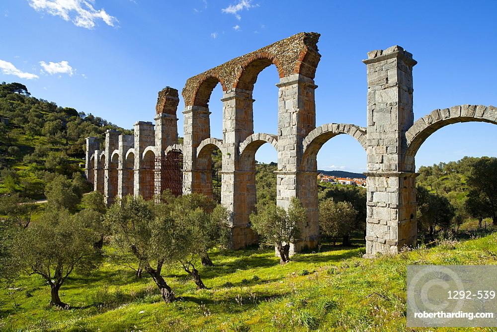 The Roman Aqueduct of Moria, Lesvos Island, Greek Islands, Greece, Europe