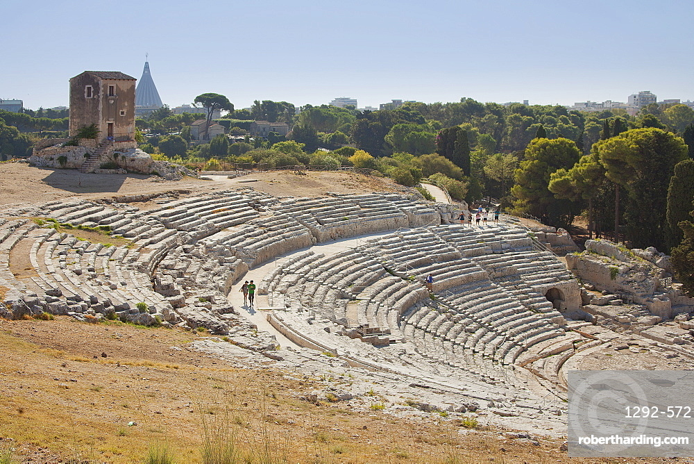 Greek Theatre, Siracusa (Syracuse), Sicily, Italy, Europe