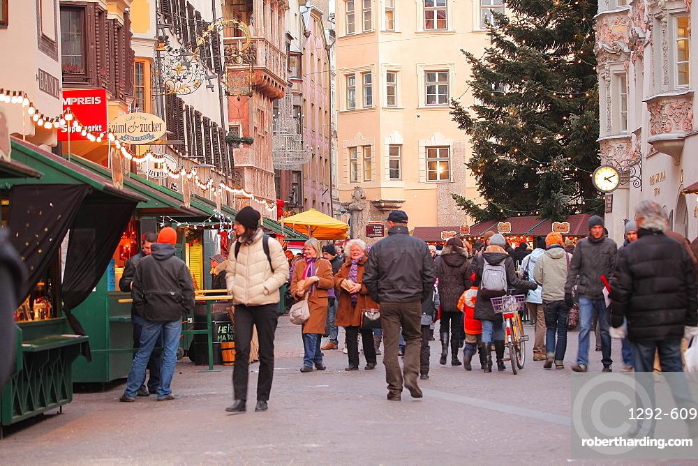 Innsbruck's Christmas markets, Innsbruck, Tyrol, Austria, Europe