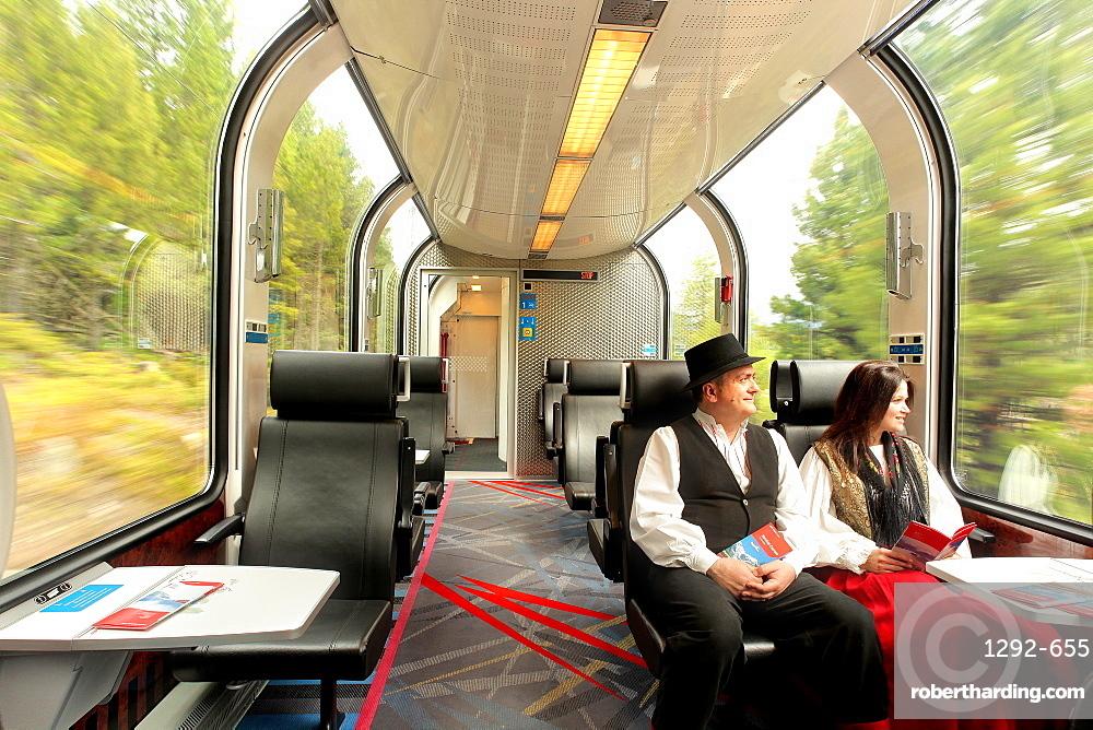 The Bernina Express, Canton of Graubunden (Grigioni), Switzerland, Europe