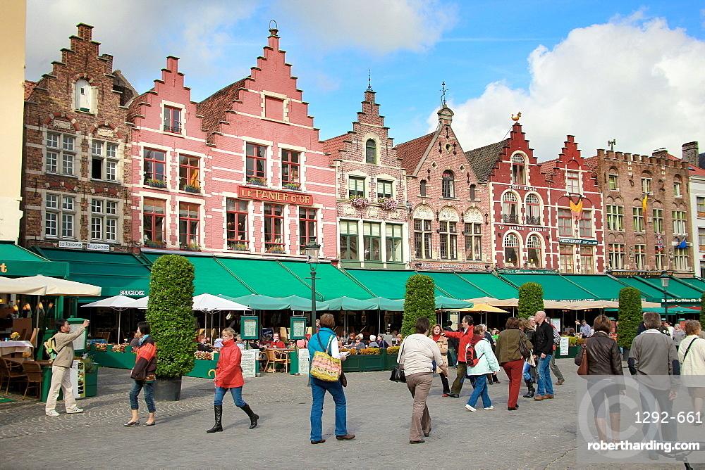 Markt Square, Bruges, Flemish Region, West Flanders, Belgium, Europe