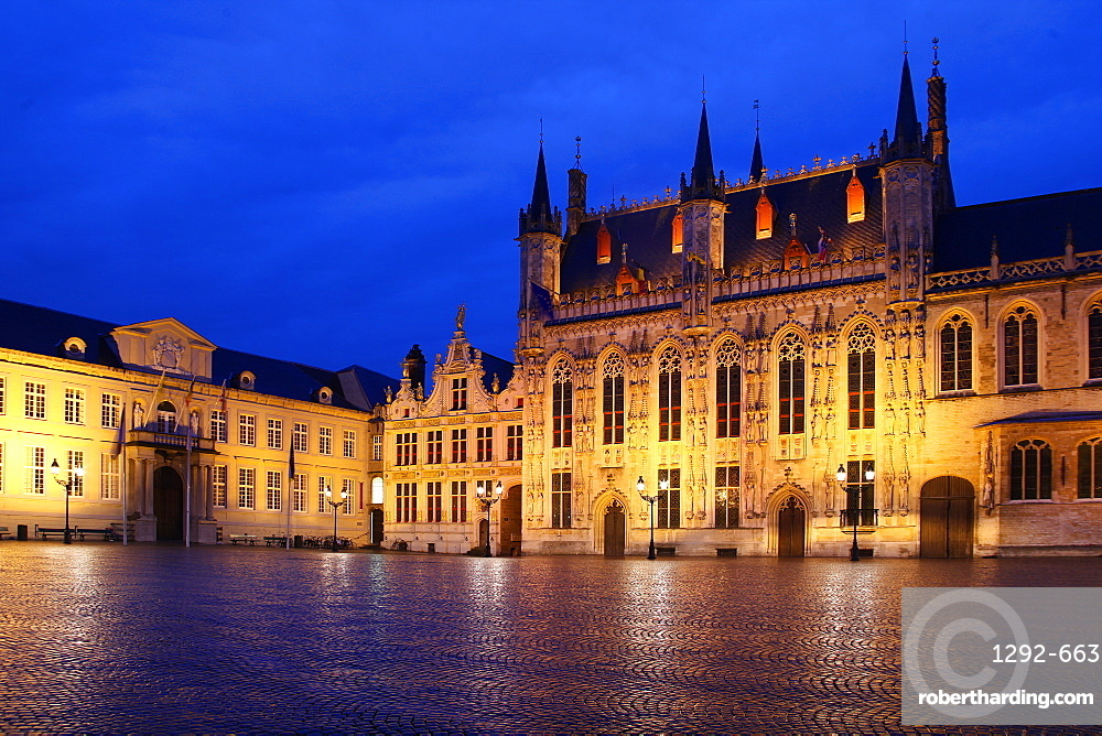 The Burg, Bruges, UNESCO World Heritage Site, Flemish Region, West Flanders, Belgium, Europe