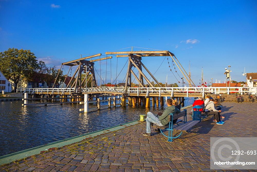 The old bridge in the Village of Wieck, Greifswald, Mecklenburg-Vorpommern, Germany, Europe