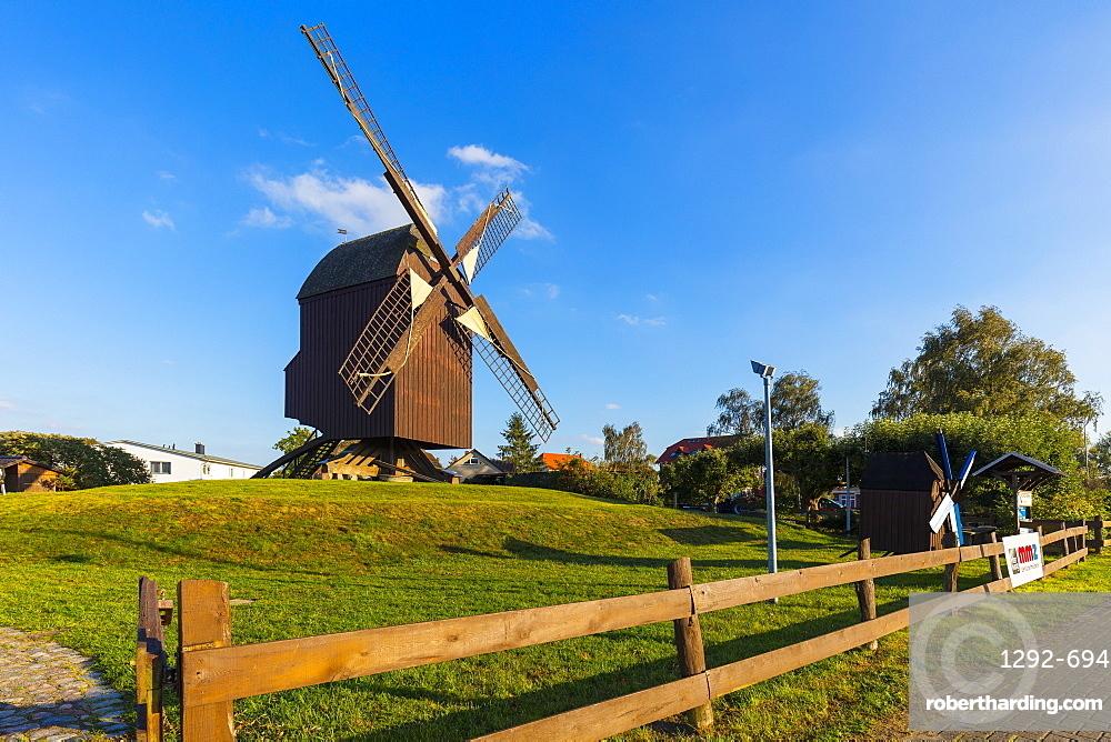 Eldena Post windmill, near the Village of Wieck, Greifswald, Mecklenburg-Vorpommern, Germany, Europe