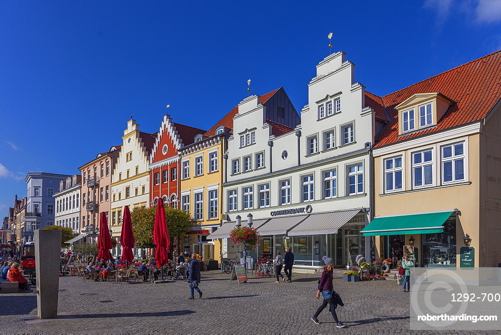 The central market square, Greifswald, Mecklenburg-Vorpommern, Germany, Europe