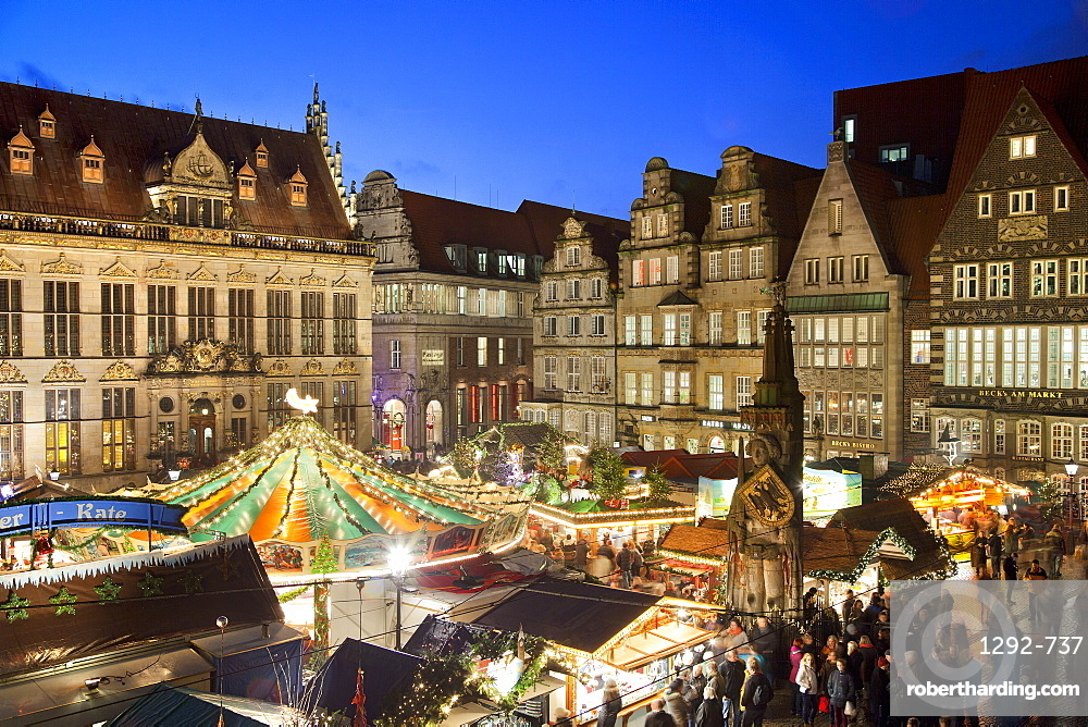 Market Square, Christmas markets, Bremen, Germany, Europe