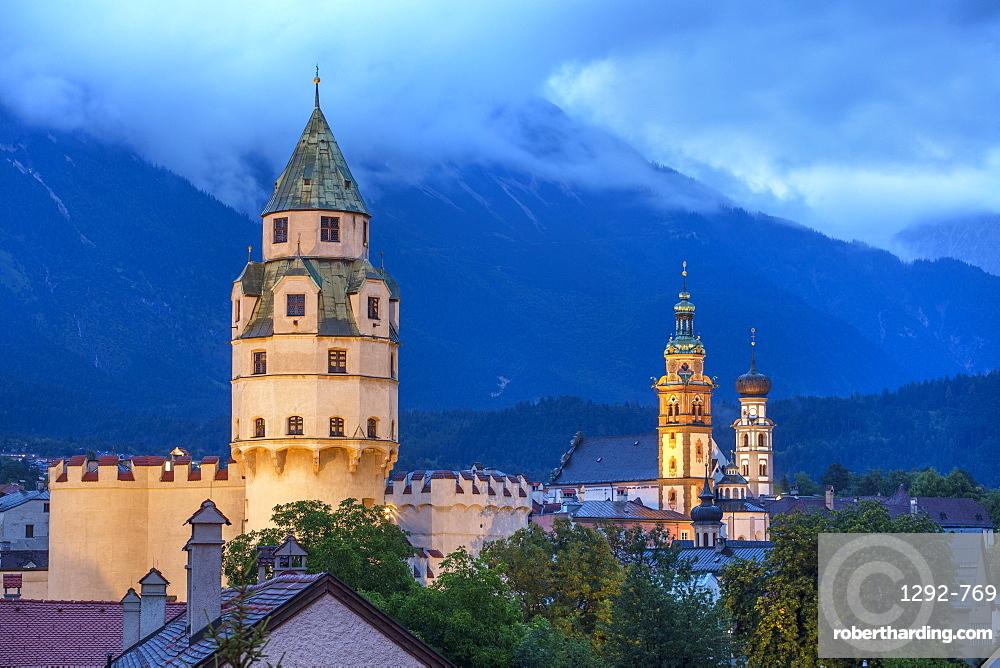 Fortress of Burg Hasegg, Hall in Tirol, Tyrol, Austria, Europe