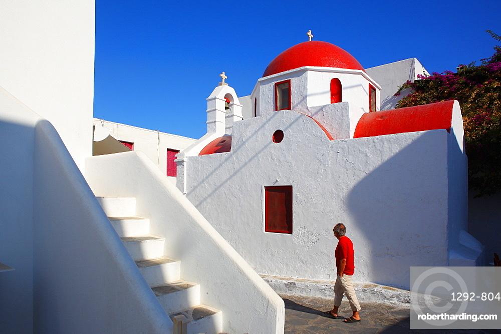 Gia Anasciceroneta, chora of Mykonos, Cyclades, South Aegean, Greek Islands, Greece, Europe