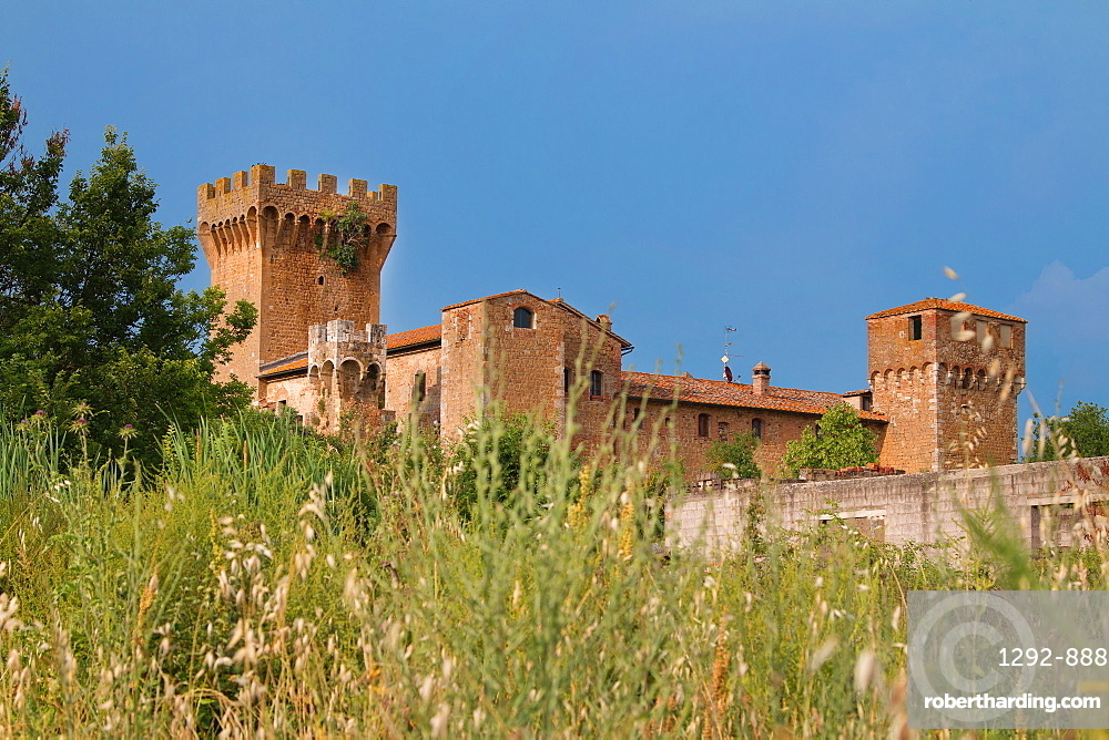 Castle of Spedaletto, Tuscany, Italy, Europe