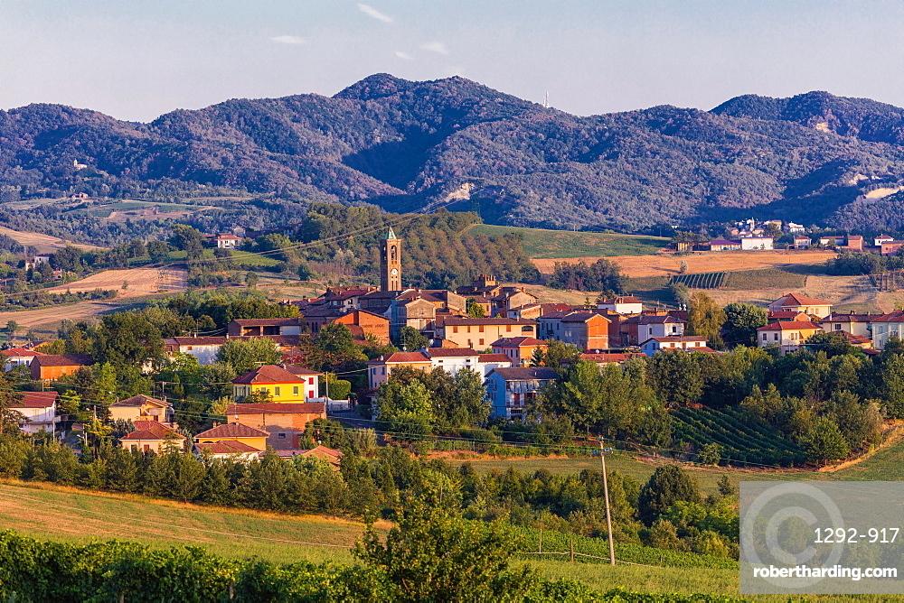 On the Fausto Coppi's roads, Cerreto Grue, Tortona area, Alessandria, Piedmont, Italy, Europe