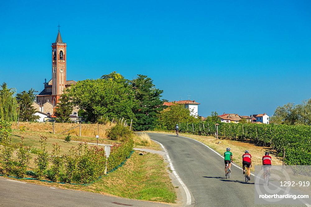On the Fausto Coppi's roads, Costa Vescovato, Tortona area, Alessandria, Piedmont, Italy, Europe