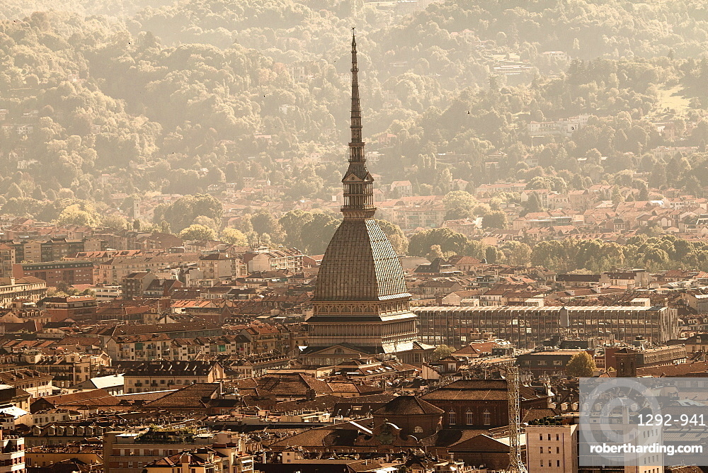 Skyline and Mole Antonelliana, Turin, Piedmont, Italy, Europe