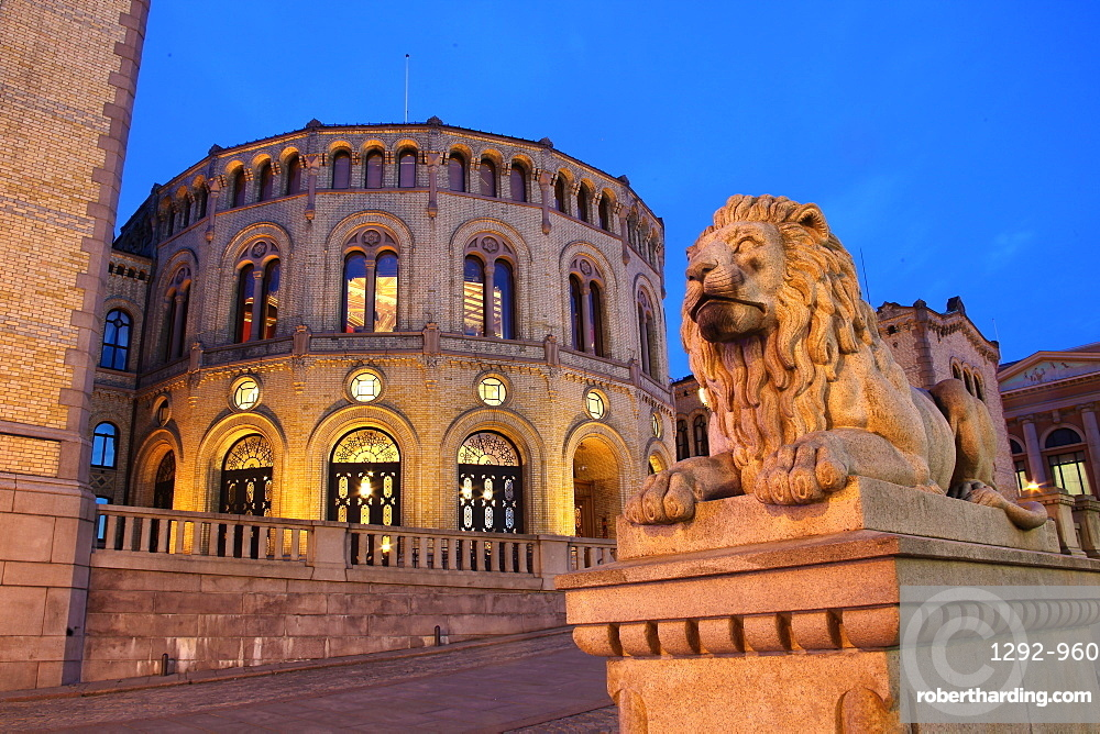 Parliament, Oslo, Norway, Scandinavia, Europe