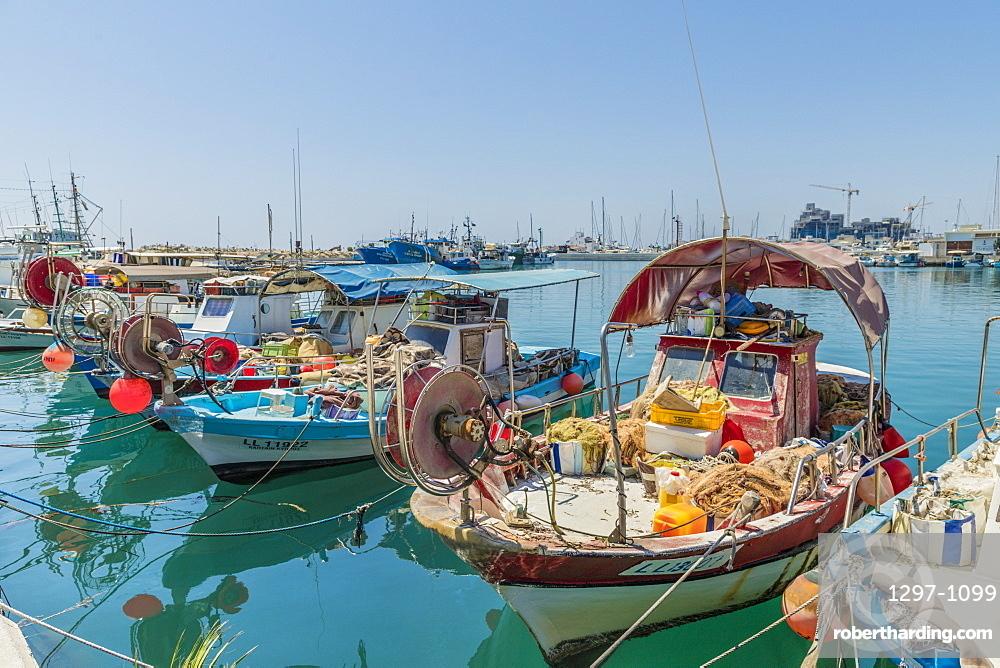 Limassol Marina harbour in Limassol Cyprus, Europe.