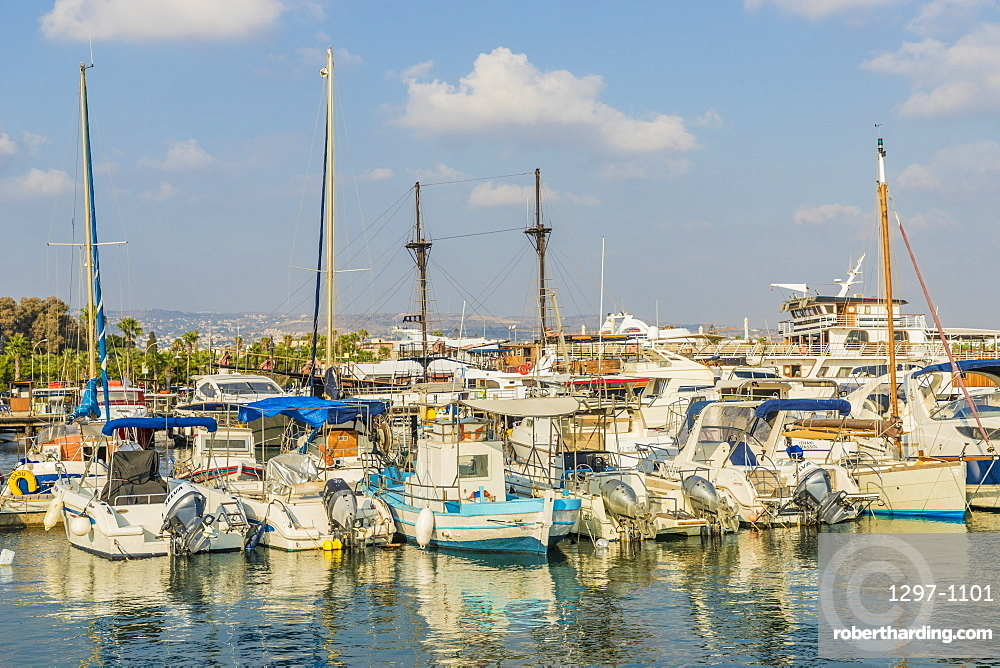 The harbour in Paphos, Cyprus, Europe