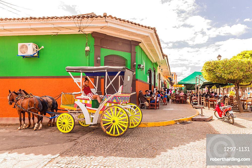 Street scene in Granada, Nicaragua, Central America