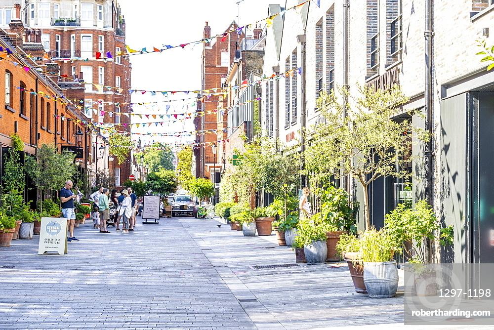 Pavillion road shopping street in Knightsbridge, London, England, UK Europe