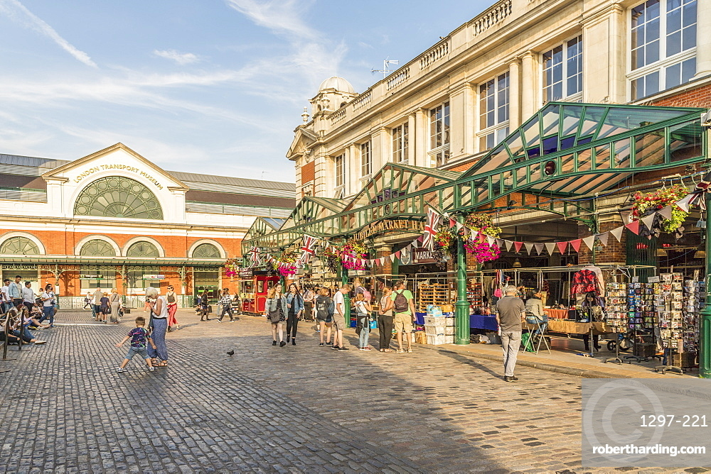 A view of Covent Garden Market in Covent Garden, London, England, United Kingdom, Europe
